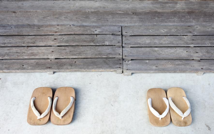 Onsen in Japan Japanese Sandals Luxury Travel to Japan Regency Group