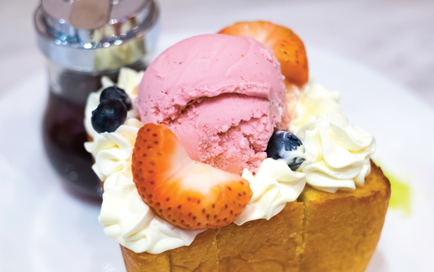 honey toast fruit green tea ice cream Luxury Travel to Japan Regnecy Group