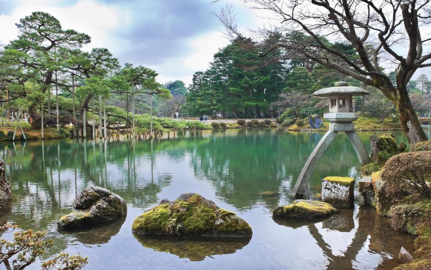 Kotoji Lantern Kenrokuen garden Kanazawa Japan Regency Group Luxury Travel