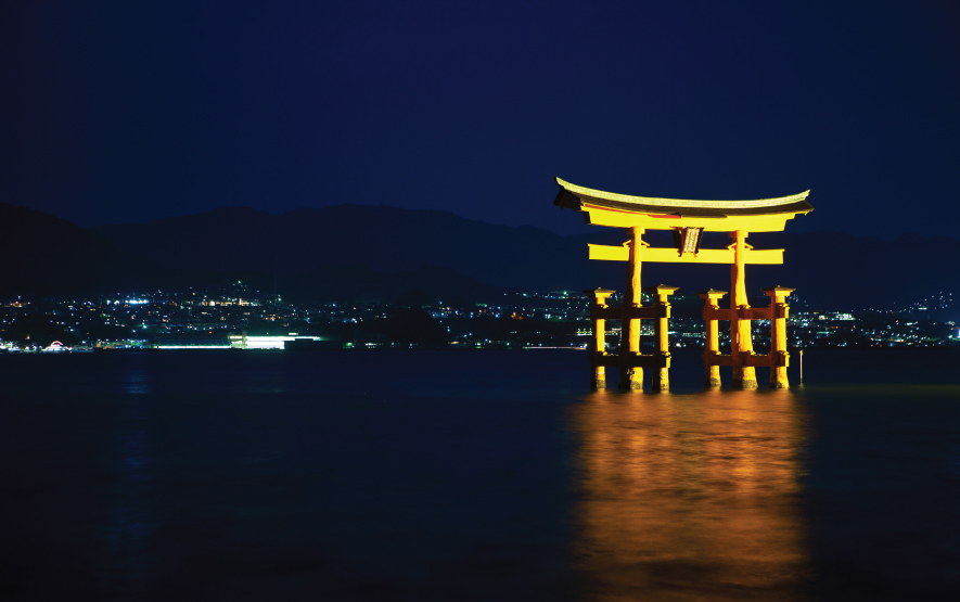 Miyajima torii night Travel Japan Regency Group